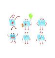 funny paper envelopes cartoon characters set cute vector image vector image