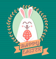 happy easter rabbit happy easter backgrounds vector image vector image