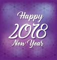 happy new year 2018 season decoration snowflake vector image vector image