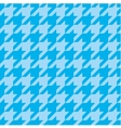 Houndstooth tile blue pattern or background vector image