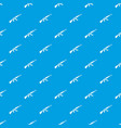 kalashnikov machine pattern seamless blue vector image vector image