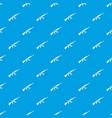 kalashnikov machine pattern seamless blue vector image vector image