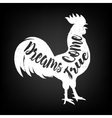 Lettering quote on the rooster s body symbol of vector image vector image