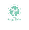 logo ginkgo green spa salon leaves vector image