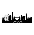 london skyline silhouette black london city vector image vector image