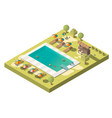 luxury resort swimming pool isometric vector image