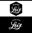 made with love hand written lettering label badge vector image vector image