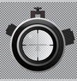military sniper scope crosshairs optical sight on vector image