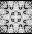 monochrome seamless pattern with mosaic motif vector image vector image