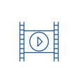 movie line icon concept movie flat symbol vector image vector image