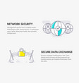 network security and secure data exchange cyber vector image vector image