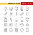 office and interview black line icon - 25 vector image