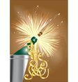 open the champagne vector image vector image