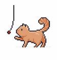 pixel art cat vector image