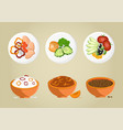 porridge bowls collection vector image