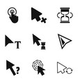 pressing icons set simple style vector image vector image