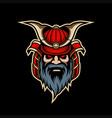 samurai mascot logo esport vector image vector image