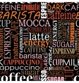 Seamless background with coffee tags vector image vector image