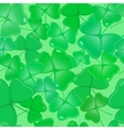Seamless pattern with shamrock leaves vector image