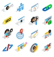 SEO icons set isometric 3d style vector image vector image