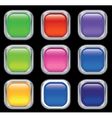 set colored web buttons vector image