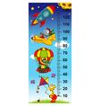 sky height measure vector image