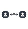 social distance icon coronavirus epidemic vector image vector image