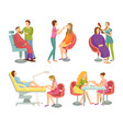 spa salon treatment and procedures icons vector image vector image