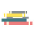 stack books literature for home reading vector image vector image