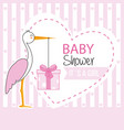 stork with gift pack vector image vector image