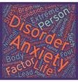 Stress and Anxiety What is Anxiety text background vector image vector image