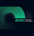 stylish circular halftone pattern abstract vector image