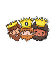 the three wise men design vector image