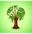 Tree world concept background vector image vector image