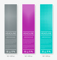 vertical halftone design banners vector image vector image