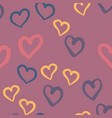 violet hearts seamless tile valentines day vector image vector image