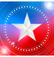 white star in a circular pattern vector image