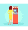 Withdrawing money from an ATM vector image vector image