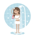 Woman Taking a Shower vector image vector image