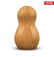 Russian tradition matrioshka wood doll vector image