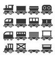 train icons set vector image