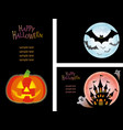a happy halloween set vector image