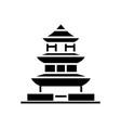 pagoda - japan icon black vector image