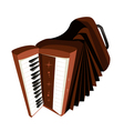 A Retro Accordion Isolated on White Background vector image