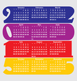 2015 calendar with flat numbers and long shadows vector image vector image