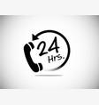 24 hr service business symbol service vector image vector image