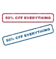 50 Percent Off Everything Rubber Stamps vector image vector image