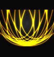 abstract gold light energy woven on black design vector image