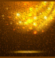 abstract orange glowing background vector image vector image