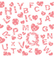 alphabetical background vector image vector image